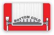 botom of radiator cold